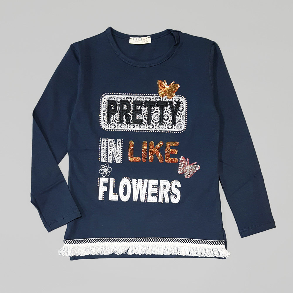 "Лонгслив  """"Pretty like fllowers"" (10364)"