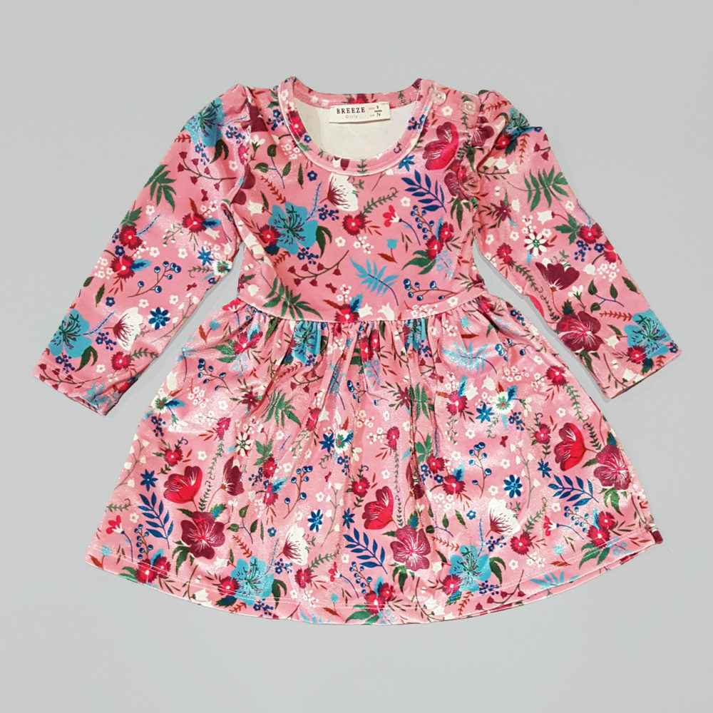"Бархатное платье  ""Цветы"" (10376)"