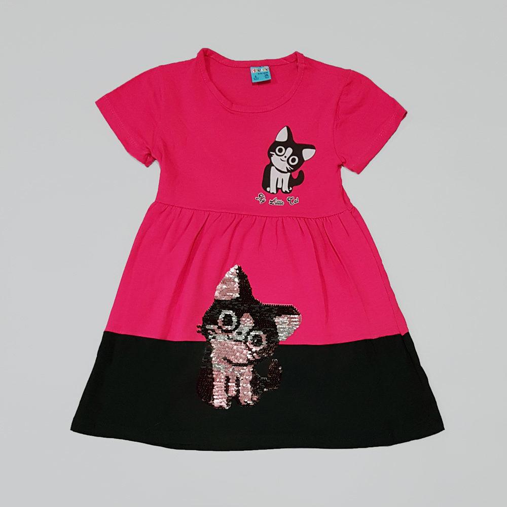 """Платье с двухсторонними пайетками """"Котёнок"""" (7334)"""